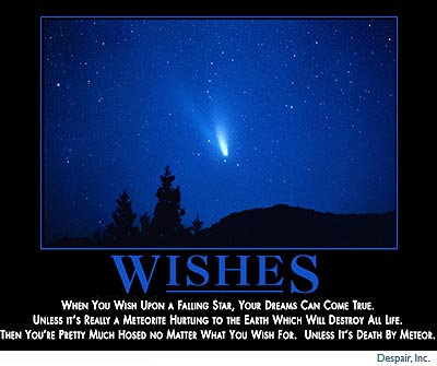 When you wish upon a falling star...